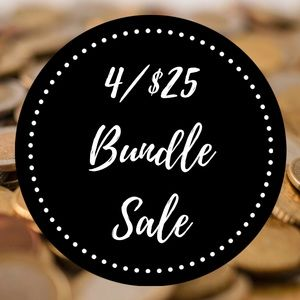 🖤Add '4/$25' Items to Bundle and Offer $25!!🖤